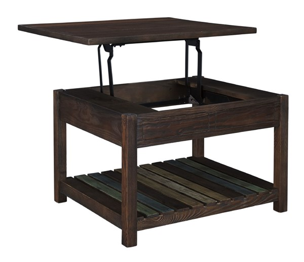 Ashley Furniture Mestler Rustic Brown Lift Top Cocktail Table T580-0