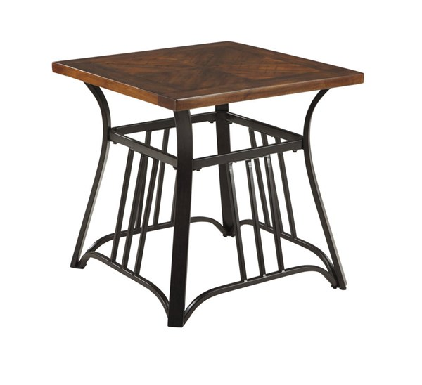 Zanilly Urban Two tone Square End Table T607-2