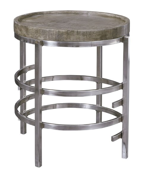 Ashley Furniture Zinelli Gray Round End Table T681-6