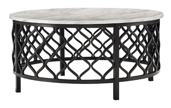 Ashley Furniture Trinson Two Tone Round Cocktail Table T691-8