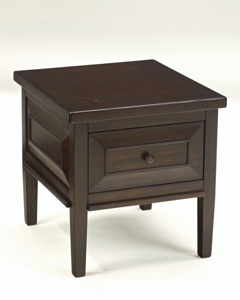 Hindell Park Rustic Brown Wood Square End Table T695-2