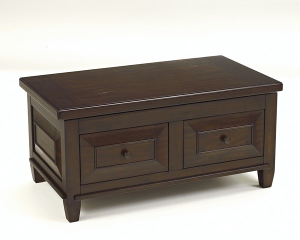 Hindell Park Rustic Brown Wood Lift Top Cocktail Table T695-9
