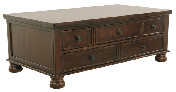 Ashley Furniture Porter Brown Cocktail Table T697-20