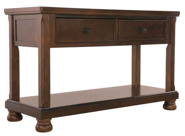 Ashley Furniture Porter Brown Sofa Console Table T697-4