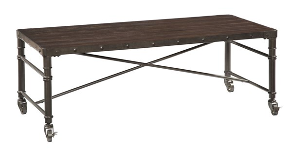 Ashey Furniture Tremile Urbanology Dark Brown Rectangular Cocktail Table T698-1