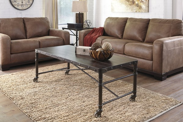 Tremile Urbanology Dark Brown 3pc Coffee Table Set T698-OCT-RECT-SQ-S1