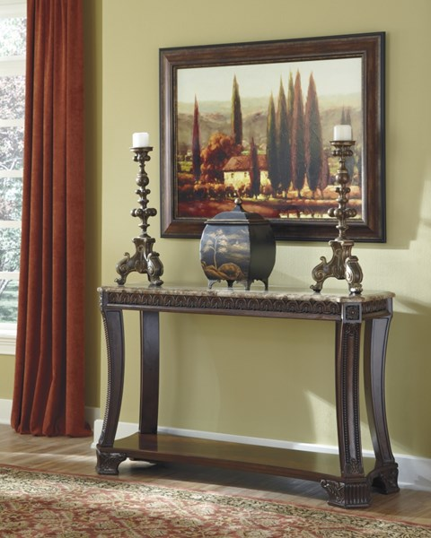 Ledelle Traditional Brown Wood Sofa Table T705-4