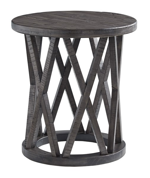 Ashley Furniture Sharzane Grayish Brown Round End Table T711-6