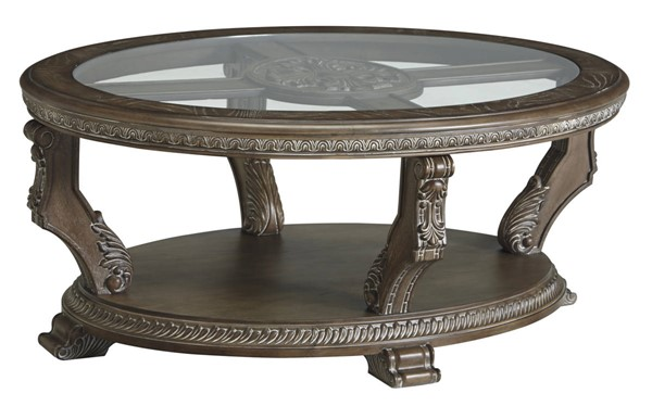 Ashley Furniture Charmond Brown Oval Cocktail Table T713-0