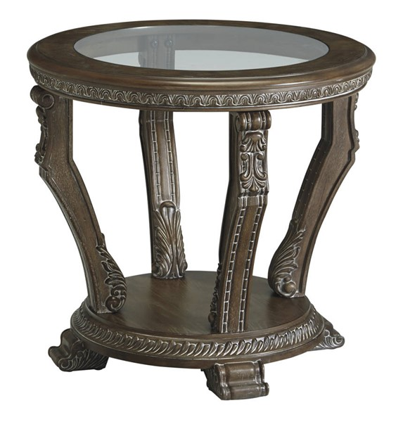 Ashley Furniture Charmond Brown Round End Table T713-6