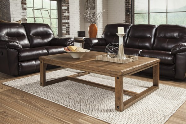 Tamilo Vintage Casual Grayish Brown 3pc Coffee Table Set T715-OCT-RECT-SQ-S1