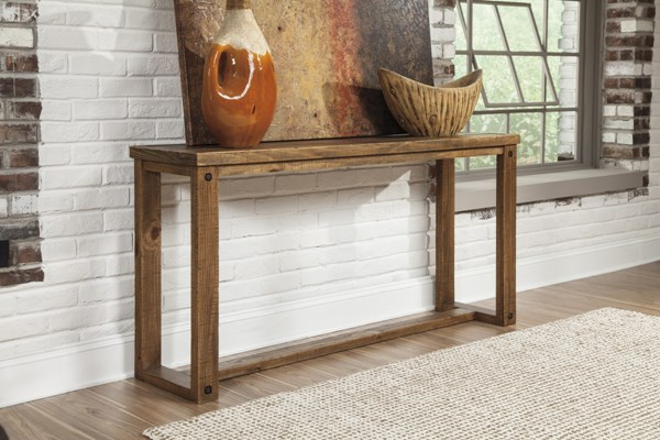 Tamilo Vintage Casual Grayish Brown Sofa Table T715-4