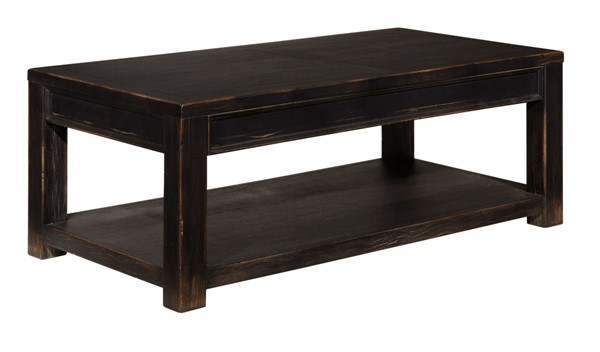 Ashley Furniture Gavelston Black Rectangular Cocktail Table T732-1