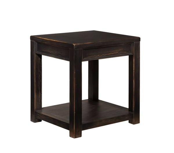 Ashley Furniture Gavelston Black Storage Square End Table T732-2