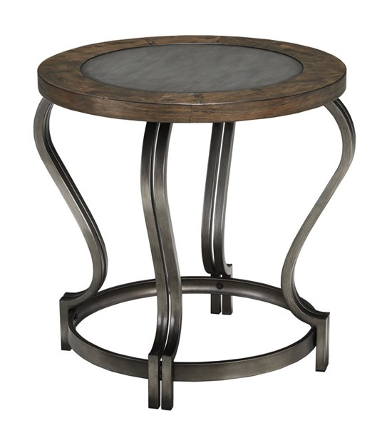 Volanta Vintage Casual Caramel Round End Table T739-6