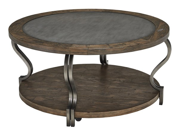 Volanta Vintage Casual Caramel Round Cocktail Table T739-8