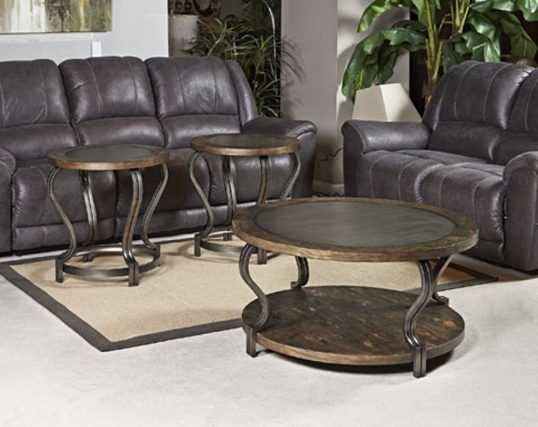 Ashley Furniture Volanta Caramel 3pc Coffee Table Set T739-OT-S1