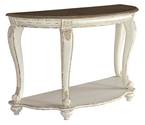 Ashley Furniture Realyn White Brown Sofa Table T743-4