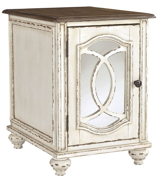 Ashley Furniture Realyn White Brown Chair Side End Table T743-7