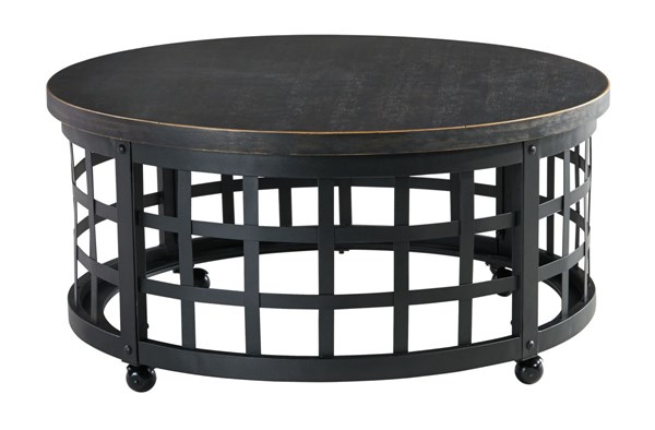 Marimon Vintage Casual Black Round Cocktail Table T746-8