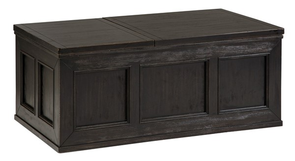 Ashley Furniture Gavelston Black Lift Top Cocktail Table T752-9