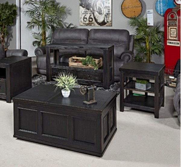 Gavelston Vintage Casual Rubbed Black 3pc Coffee Table Set T752-OT-S1