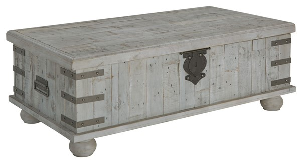 Ashley Furniture Carynhurst White Wash Gray Lift Top Cocktail Table T757-9