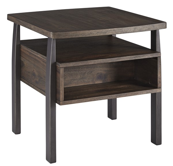 Ashley Furniture Vailbry Brown Rectangular End Table T758-3