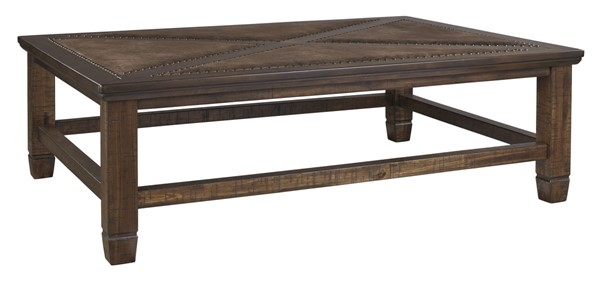 Ashley Furniture Royard Brown Rectangular Cocktail Table T765-1