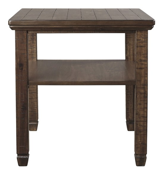 Ashley Furniture Royard Brown Rectangular End Table T765-3