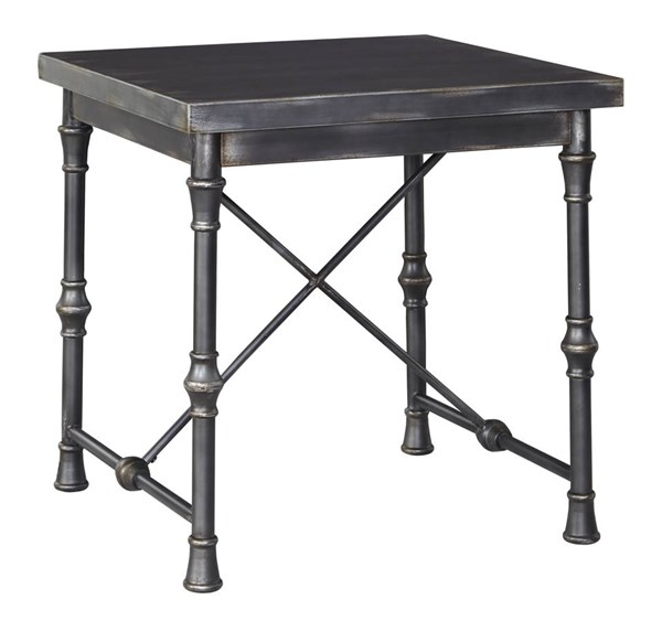 Ballor Vintage Casual Pewter Square End Table T767-2