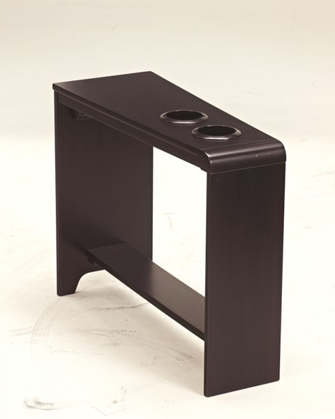 Carlyle Almost Black Wood Chair Side End Table T771-07