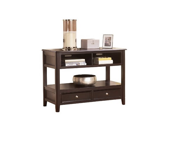 Carlyle Contemporary Black Wood Rectangle Sofa Console Table T771-4