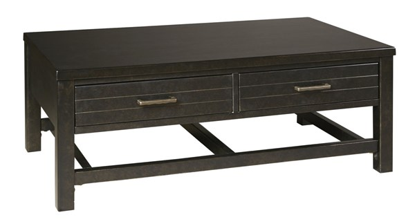 Jazzlyn Contemporary Brown Rectangular Cocktail Table T780-1