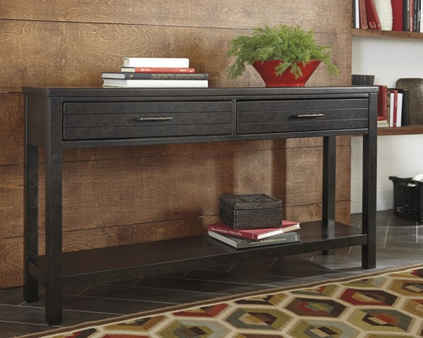 Jazzlyn Contemporary Brown Rectangle Storage Sofa Table T780-4
