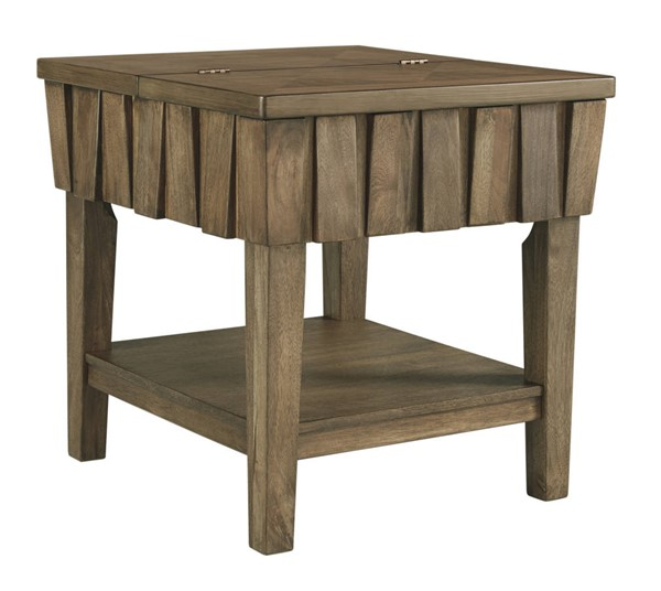 Ashley Furniture Rowenbeck Brown Rectangular End Table T783-3