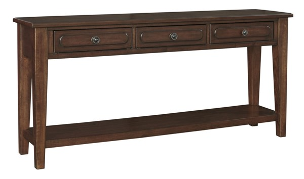 Ashley Furniture Adinton Reddish Brown Sofa Table T785-4