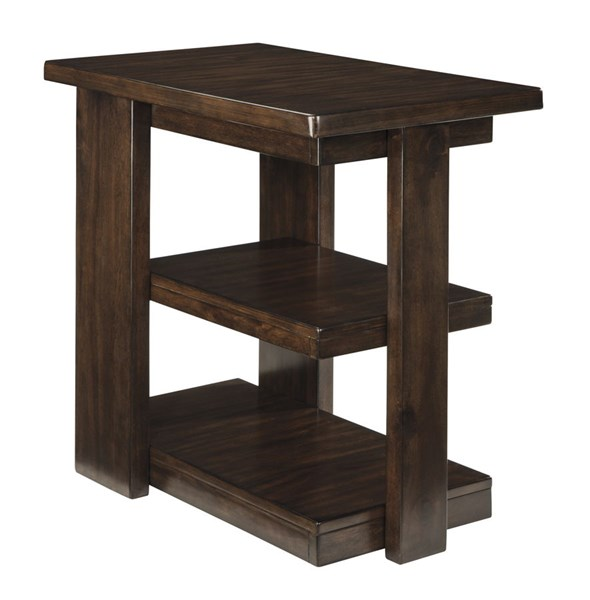 Garletti Contemporary Dark Brown Chair Side End Table T787-7