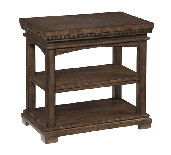 Larrenton Traditional Classics Grayish Brown Wood Chair Side End Table T790-7