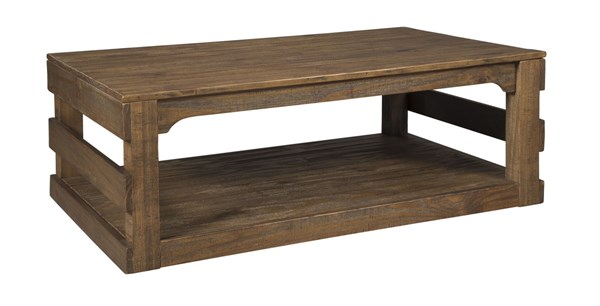 Shanlore Casual Light Brown Wood Rectangular Cocktail Table T795-1