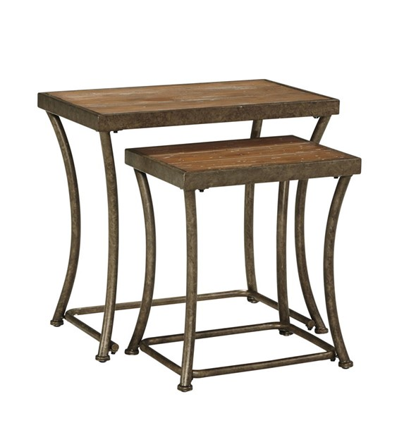 Nartina Vintage Casual Light Brown Nesting End Tables (2/CN) T805-16