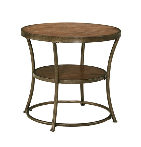 Nartina Vintage Casual Light Brown Round End Table T805-6