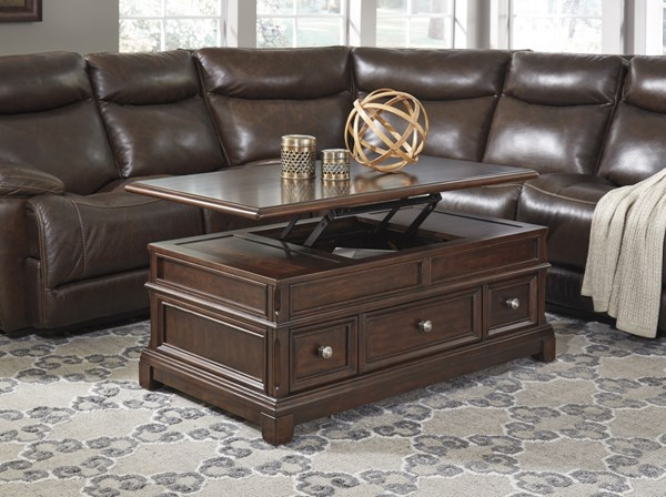 Lavidor Traditional Classics Chocolate Wood Coffee Table Set T809-OCT