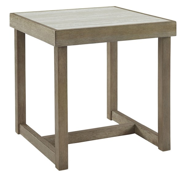 Ashley Furniture Challene Light Gray Square End Table T810-2