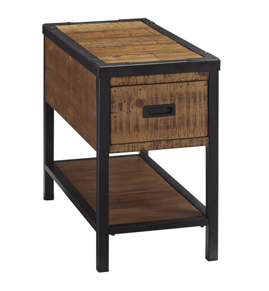 Kalean Contemporary Two Tone Wood Metal Chair Side End Table T817-7