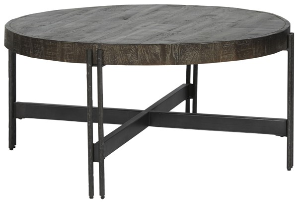 Ashley Furniture Jillenhurst Dark Brown Round Cocktail Table T823-8
