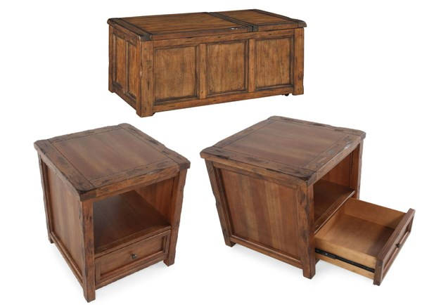 Tamonie Vintage Casual Medium Brown Coffee Table Set T830-BNDL