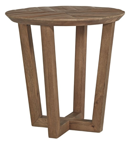 Ashley Furniture Kinnshee Brown Round End Table T832-6