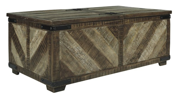 Ashley Furniture Cordayne Brown Rectangle Storage Cocktail Table T849-1