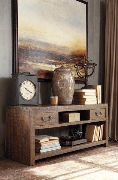 Larroni Vintage Casual Rustic Brown Console Table T853-4